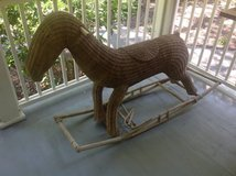 Antique wicker large rocking horse in Beaufort, South Carolina