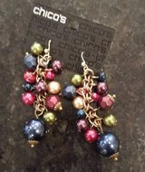 Chicos Earrings - Multi Color Beads - new w/ original packaging in Bolingbrook, Illinois