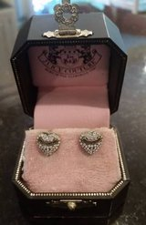 Juicy Couture Heart and Rhinestone Earrings - Posts - In original box in Glendale Heights, Illinois