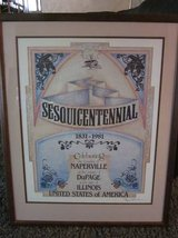 Naperville Sesquicentennial Print 1831-1981 Framed Limited Edition 300 in Bolingbrook, Illinois