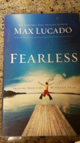 "Max Lucado hard copy of ""Fearless"" in Camp Pendleton, California"