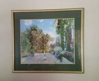 Picture Print- Framed Garden Scene - Matted in Orland Park, Illinois