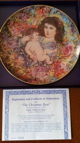 Hibel - Edna Hibel Holiday Plate - 1992 The Christmas Rose in Orland Park, Illinois
