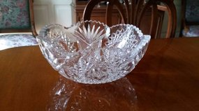 "Crystal Bowl - Cut Glass - 9""diameter in Westmont, Illinois"