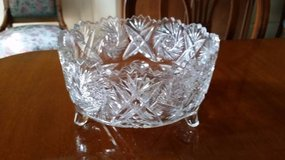 Crystal Bowl - Cut Glass - Footed in Orland Park, Illinois