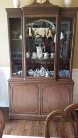 China Cabinet - Nice solid wood - Well built in Joliet, Illinois