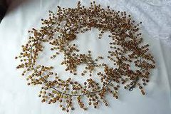 Pottery Barn Garland - Amber Glass Beads - 5 ft. Great for Christmas Decorating in Joliet, Illinois