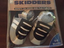 skidders original baby boy shoes leather booties blue- gray and white sz 0-6 m in Joliet, Illinois
