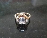 Ring - 10K with Crystals - Size 5 in Westmont, Illinois