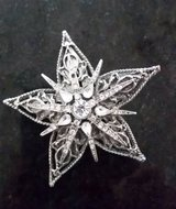 Brooch / Pin -Star Shape with Clear Crystals in Westmont, Illinois