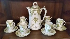 Chocolate Pot Set - Chocolate Pot and 6 Cups and Saucers - Mint in Naperville, Illinois