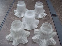 """nice ceiling fan replacement or vanity light covers 5 frosted ruffled edge 2"""" in Naperville, Illinois"""