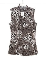 NEW w Tags Sere Nade Sleeveless Leopard Mock Turtlweneck Blouse Womens Small 4 6 in Yorkville, Illinois