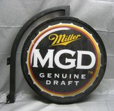 RARE DOUBLE-SIDED MILLER MGD LIGHTED SIGN in Chicago, Illinois