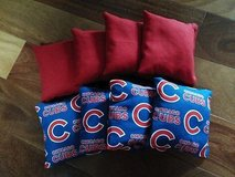chicago cubs corn filled cornhole bean bags 4 red/ 4 chicago cubs in Aurora, Illinois