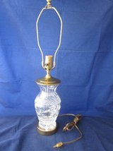 WATERFORD CRYSTAL Glass & Brass Lamp Ginger Jar Urn Vase in Aurora, Illinois