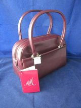 M & M Morris Moskowitz Burgundy Leather Purse ~ VINTAGE NEW with TAGS in Glendale Heights, Illinois