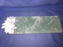 "ARTHUR COURT 1986 Bunnies Green Marble Cuttting Cheese Board 19.5"" x6"" in Naperville, Illinois"