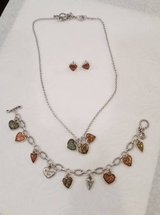 Brighton Picadilly Hearts Necklace, Bracelet and Earring Set in Naperville, Illinois