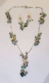 Crystal Necklace and Earings - Swarovski Crystals - very sparkly in Glendale Heights, Illinois