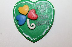 "NWT ~~ Handmade ""Luck of the Irish"" Heart Shaped Pin, Retail $12 in Westmont, Illinois"