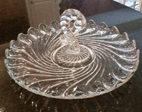 Vintage Fostoria Clear Glass Tray with Center Handle in Glendale Heights, Illinois