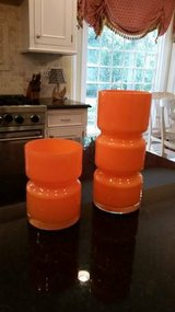 Crate and Barrel Orange Totem Vases in Naperville, Illinois