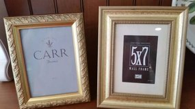 Gold Picture Frames 5 x 7 - 2 available in Plainfield, Illinois