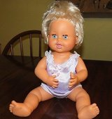 "Vintage 1989 Ideal/Tyco Rub-a-Dub Dolly blonde rooted hair 16"" long blue eyes REDUCED in Macon, Georgia"