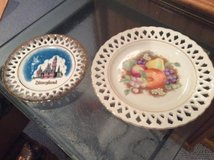 "Disneyland Plate--6""--Purchased 1951--Plate with Fruit design -8"" in Plainfield, Illinois"