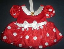 New disney store minnie mouse red white polka dot costume dress infant 6-12 months in Naperville, Illinois