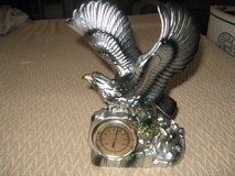 eagle sculpture with baby eagles in nest with thermometer in Camp Lejeune, North Carolina