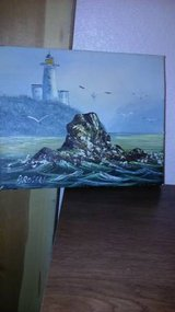 8 x 10 seascape signed oil painting in Travis AFB, California