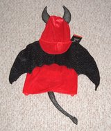 NEW Red Black Sequin DEVIL Pet Costume Large Cat Dog Clothes Halloween Unisex in Oswego, Illinois
