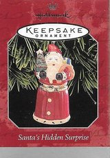 NEW In Box RARE 1998 Hallmark Keepsake Santa's Secret Surprise Trinket Box Ornament in Morris, Illinois