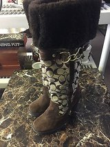 coach boots authentic coach signature luci a7214 /suede knee high boots size 6.5 in 29 Palms, California