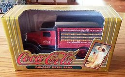 Ertl Red Drink Delicious Coca-Cola in Bottles Coke Delivery Truck Die-Cast Bank in Naperville, Illinois