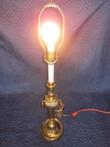 "Antique Brass Lamp 25"" tall Round Base ~ Rembrandt? in Aurora, Illinois"