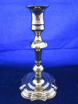 "STIFFEL Brass Candlestick Candle Holder 9"" Tall with Decorative Base in Aurora, Illinois"