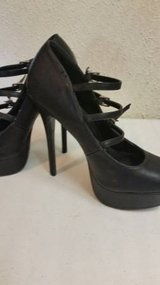 Charlotte Russe strappy black heels in Camp Pendleton, California