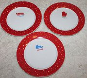Set of 3 Decorative Winter Plates, Red & White, Mitten, Sleddin' Ice Skate, 7-in in Plainfield, Illinois