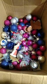Box of Plastic Christmas Ornaments in Clarksville, Tennessee
