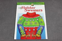 adult coloring book ugly holiday sweaters creative haven christmas in Houston, Texas