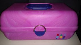 Caboodles Pink ,Teal Purple Make Up Organizer Mirror Cosmetic Case in Aurora, Illinois