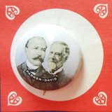 1904  pinback presidential campaign button, alton parker & henry davis in Camp Lejeune, North Carolina