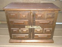 """Primitive Box with Drawers  12"""" x 14"""" x 7"""" Solid ~ Well constructed in Aurora, Illinois"""