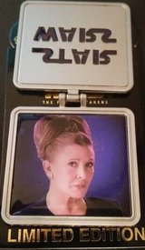 New Disney Carrie Fisher Star Wars Force Awakens Trading Pin Princess Leia Limited Ed in Naperville, Illinois