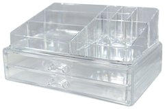 NEW unique home acrylic jewelry cosmetic storage makeup organizer large 2 piece new in Kingwood, Texas
