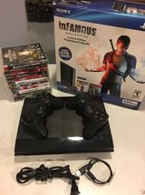 PS3 Console with 2 Remote Contorller & 11 Games in Naperville, Illinois