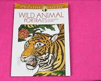 creative haven wild animal portraits adult coloring book in Kingwood, Texas